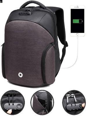 Mochila Backpack Candado Antirobo Impermeable Usb Powerbank