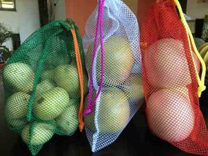 Pack De 5 Eco Bolsas Para La Compra De Frutas Y Verduras