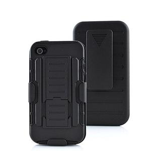 Funda Clip Rudo + Cristal Iphone 4s 5s Se 6 6s 7 8 Plus X