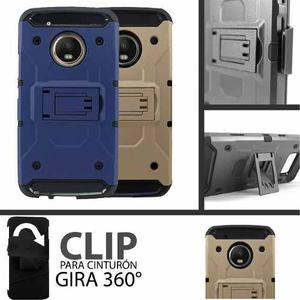 Funda Uso Rudo Clip Moto G6 X4 E4 G4 C G5 Z2 Play Plus Force