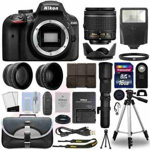Super Kit Camara Nikon D Lens mm Vr+ 500mm+19 Acc