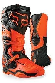 Botas Fox Comp 8 Naranja Mx  Rzr Motocross Atv Talla 7