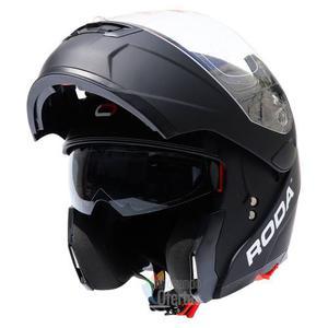 Casco Abatible Deportivo Para Motocicleta Negro Mate