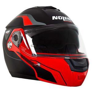 Casco Abatible Nolan N90 - 2 Straton Rojo/negro Mate