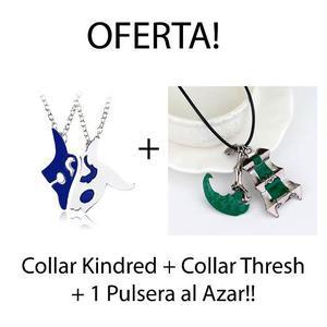 Collar Kindred + Collar Thresh + Pulsera League Of Legends