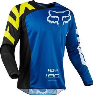 Jersey Fox 180 Race Azul Talla L Motocross Mtb Downhill