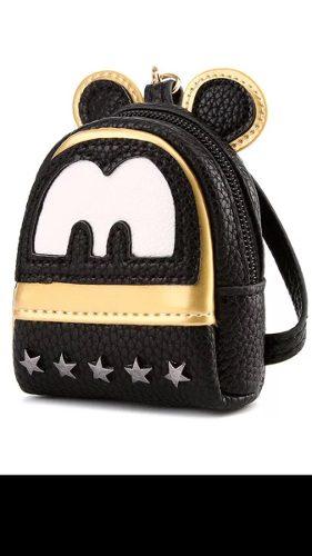 Mini Monedero Mochilita Con Orejas Mickey Mouse Envío
