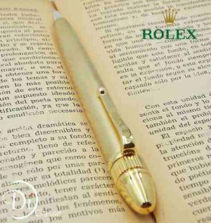 Pluma Rollerball Rolex President Oro King Tinta Negra