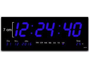 Reloj Digital De Pared Led Grande Varios Colores 46 X 22 Cm