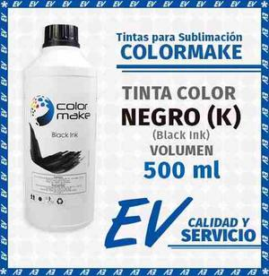 Tinta Para Sublimación Colormake Negro (k) 500 Ml