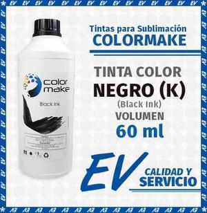 Tinta Para Sublimación Colormake Negro (k) 60ml