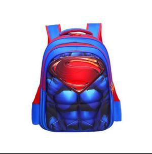 Mochila Escolar Super Heroes Grabado 3d Minions Avengers