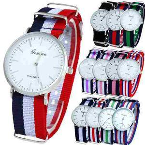 10 Relojes Geneva Lote Mayoreo Hombre Mujer Tela Unisex A757