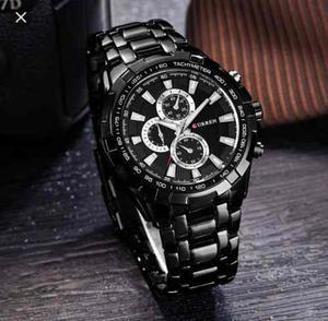 Reloj Negro Para Hombre Casual Elegante Curren Moderno
