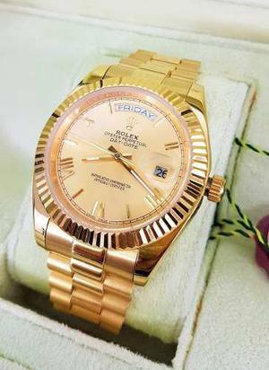 Reloj Rolex Day Date Oro Amarillo Y Esfera Dorada Automatico