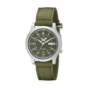 Reloj Seiko Snk805 Automatico Verde Militar Aviador Flieger