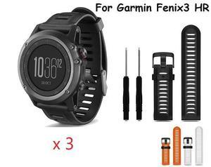 Correa Para Garmin Fenix 3 Smartwatch 26mm Lote De 3 +envio