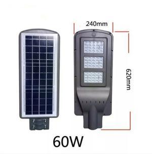 Lámpara Led Solar 60w Suburbana Sensor Recargable 12h