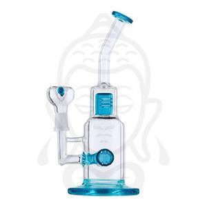 Bong (pipa De Agua) De Cristal Con Dos Percoladores, 24cm