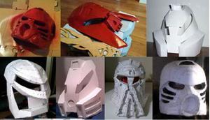Mascaras De Bionicle (para Armar En Papel)