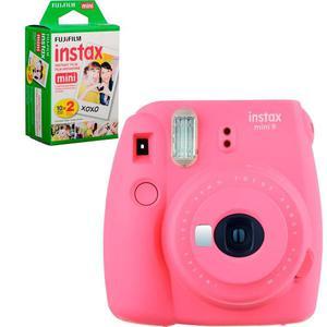 Fujifilm Camara Instax Mini 9 Rosa Flamingo + 20 Hojas