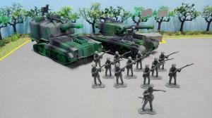 Soldaditos Set Ejercito Gris Tanques Figuras Juguete Bootleg