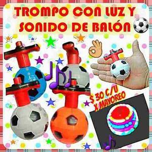 Trompo En Forma De Balón Con Luz Y Sonido Para Tus Fiestas