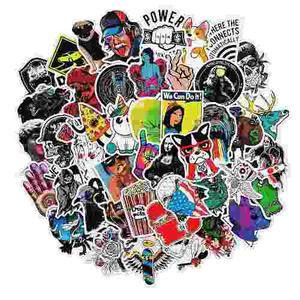 Calcomanias Stickers 50 Piezas Sin Repetir Calidad Premium X