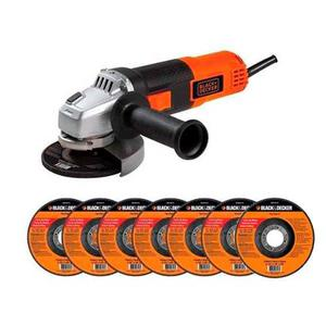 Esmeril Angular w 7 Discos Regalo Black And Decker