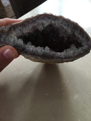 Geoda De Cuarzo Citrino Y Amatista, Cueva De Amatista