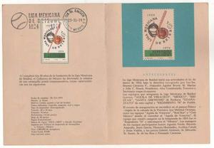 K78-méxico Folder 50 Aniversario Liga Mexicana De Baseball