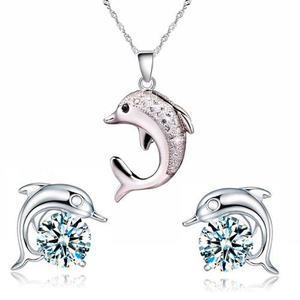 Regalo Collar Amor Corazón Hermoso Delfín Swarovski