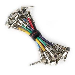 Cables Joyo Para Guitarra Patch 6 Piezas En L Envio Gratis