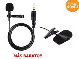 Micrófono De Solapa Lavalier Con Jack 3.5mm + Envío Gratis
