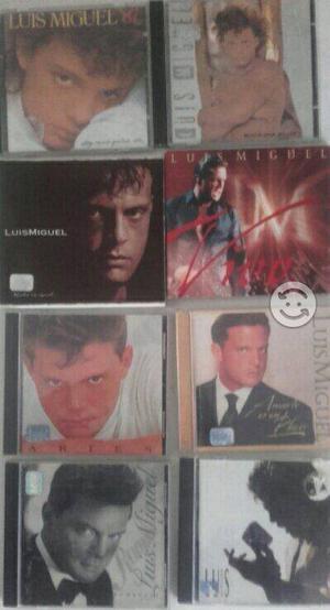 Pack 8 discos de Luis Miguel $500