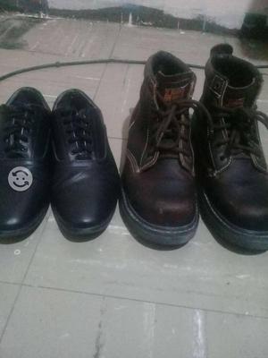 Zapato industrial con casquillo y zapato casual