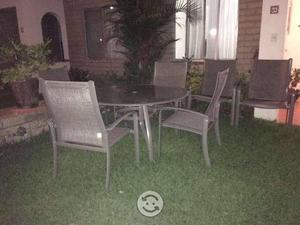 REMATO Mesa con 6 sillas para jardin