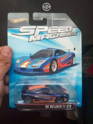 HW hot wheels Speed Machines Mclaren F1 GTR Azul
