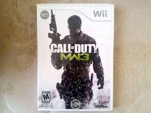 Juego Call of Duty MW 3 WII Seminuevo