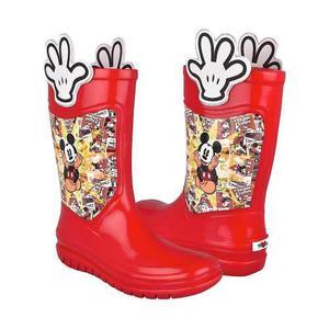 Botas De Lluvia Para Niño Mickey Mouse Sintético Rojo