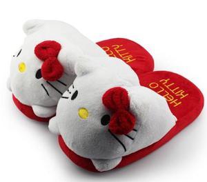 Hello Kitty Pantuflas Gato Cute Kawaii Mujer Niña Moda Cat