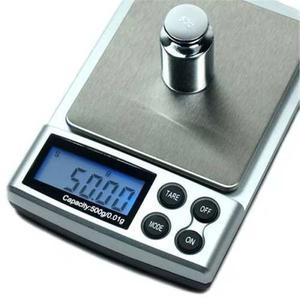 Mini Bascula Gramera Digital 0.01g A 500grs Joyeria Xto