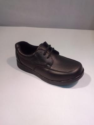 Zapato Escolar Para Niño 100% Piel
