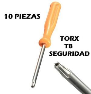 10 Piezas Desarmador Torx T8 Para Control Xbox 360 Y One Ps3