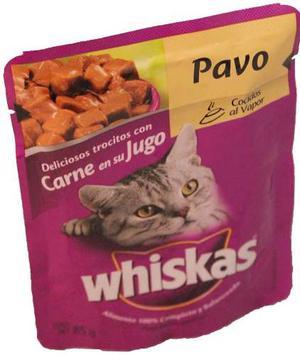 Alimento Para Gato Whiskas Pavo Adulto 85 Gr