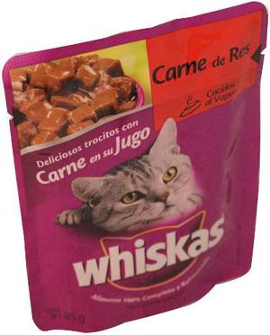Alimento Para Gato Whiskas Res Adulto 85 Gr