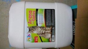 Arena Arenero Gato 10kg Mascota Casa Hogar Limpio Fl