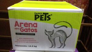 Arena Arenero Gato 12.5kg Mascota Casa Hogar Limpio Fl
