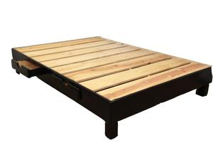 Base para cama matrimonial con 4 cajones en color chocolate,