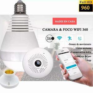 Camara Espia 360 Wifi Camaras Espias + App + Vigilancia Noct